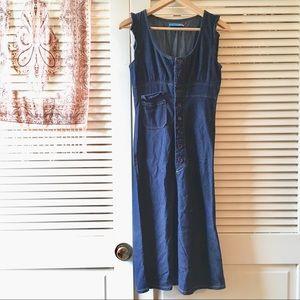 dELiA*s • Vintage 90s Denim Button Down Dress